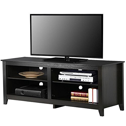 Topeakmart Wood TV Stand Console Table Home Entertainment Center Cabinet for 60 inch Flat Screen TVs - 60
