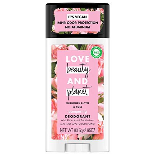 Love Beauty And Planet Deodorant, Murumuru Butter and Rose 2.95 oz