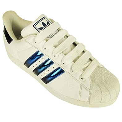 66a2253eb574 Adidas Originals Superstar Mir 2 Trainer White Blue Bling Trainers Size UK  10.5