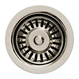 Whitehaus Collection RNW35L-PN 3 1/2'' Sink Basket Strainer for Deep Fireclay Application Polished Nickel