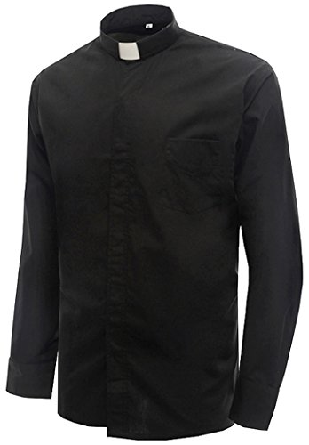 Ivyrobes-Mens-Tab-Collar-Long-Sleeves-Clergy-Shirt-Black