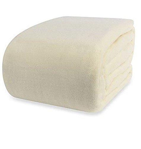 Berkshire SoftWorks Washable Wool Blanket, Ivory - Outlet Berkshire