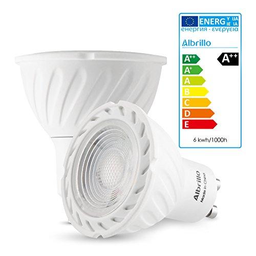 albrillo gu10 led bulb 6w 50w halogen bulbs equivalent 470lm import it all. Black Bedroom Furniture Sets. Home Design Ideas