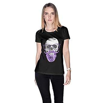 Creo Purple Beard Skull Simon T-Shirt For Women - M, Black