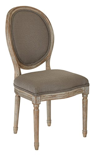 Ave Six LLA-K12-osp Lillian Oval Back Chair, Klein Otter