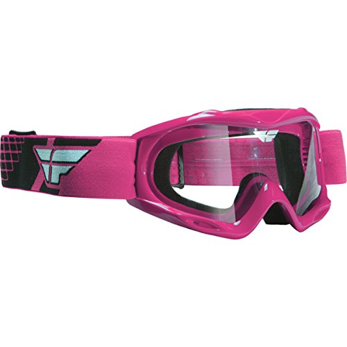Fly Racing Focus Youth Off-Road/Dirt Bike Motorcycle Goggles Eyewear - Pink/Clear / One Size Fits (Fly Racing Mx)