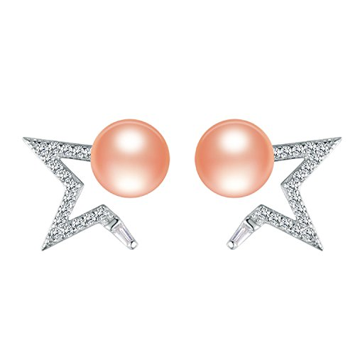 SuperLouisa Fashion 925 sterling silver Chic and unique star pearl stud earrings jewelry for prom - Australia Online Tiffany Co And