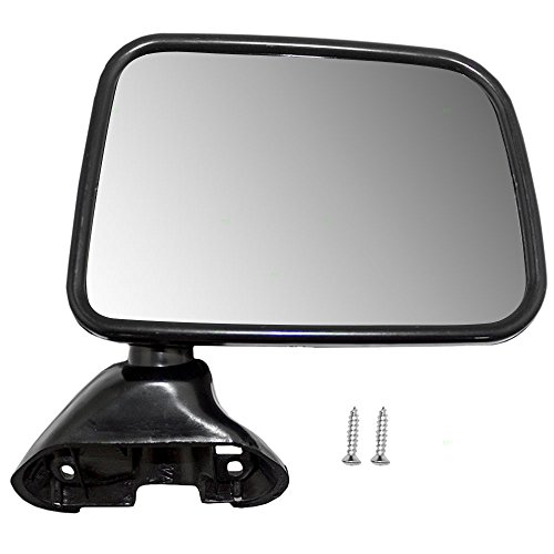 Passenger Skin Door (Passengers Manual Side View Mirror Door Skin Mounted Replacement for Toyota Pickup Truck with Vent Window 87910-89143)