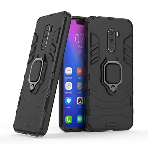 Xiaomi Pocophone F1 Case, EVERGREENBUYING Hybrid 3 in 1 Rugged Tough Armor Cover Hard Dual Layer With Stand Feature & Magnetic Car Mount Protective Case for Xiaomi Pocophone F1 / Poco F1 6.18
