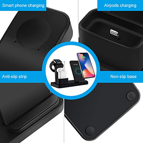 Invisible HD Lens Perfect for iPhone Upgraded Wireless Charger Stand Covert Camera with Motion Detection iWatch and Android Device Beenwoon WiFi Hidden Camera Wireless Charging Station