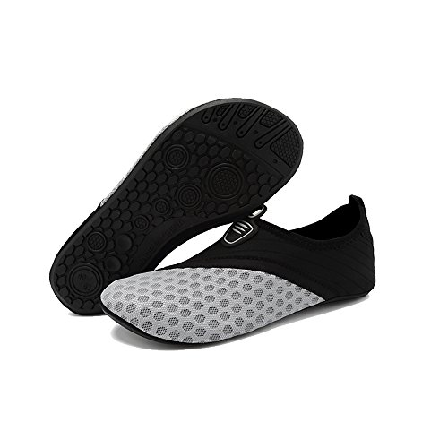 Quick Shoes Men's Sport BlanKey Barefoot Drying gray Aqua Slip for grids Women's On Water Water Kids Exercises 5qYYwAXxU