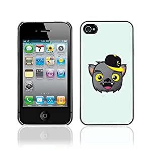 Colorful Printed Hard Protective Back Case Cover Shell Skin for Apple iPhone 4 / 4S ( Funny Bat Vampire Illustration )