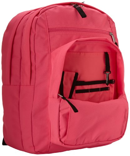 """JanSport Big Student Backpack 6 Functional lightweight backpack featuring double main compartments, mesh side pocket, front pocket with organizer, padded back, and ergonomic S-curved straps Shoulder strap length: 34.5"""" Handle has a drop of 3.25"""" and a length of 8.5"""""""