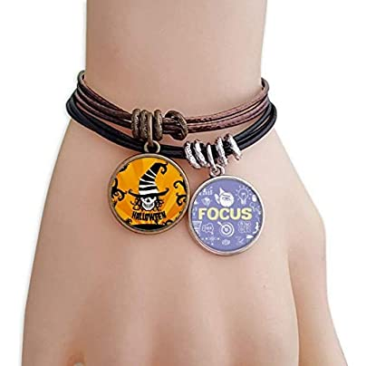 master DIY Skull Marker Wizard Hat Halloween Bracelet Rope Wristband Force Handcrafted Jewelry Estimated Price -