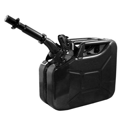 Wavian USA JC0010BVS Authentic NATO Jerry Fuel Can and Spout System Black (10 Litre)