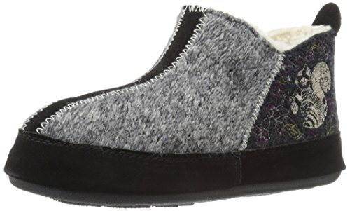 Acorn Women's Forest Bootie Slipper, Grey Squirrel, Small/5-6 M US