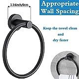 Pynsseu Matte Black Towel Ring for Bathroom 1
