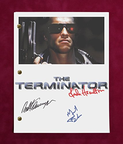 "TERMINATOR MOVIE SCRIPT WITH REPRODUCTION SIGNATURES Schwarzenegger Furlong ""C3"""