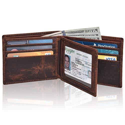 - Leather wallets for men - Rfid slim leather wallet for men wallets credit card front pocket wallet