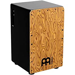 Meinl Pickup Cajon Box Drum with Internal Strings for Snare Effect – NOT MADE IN CHINA – Makah Burl Frontplate / Baltic…