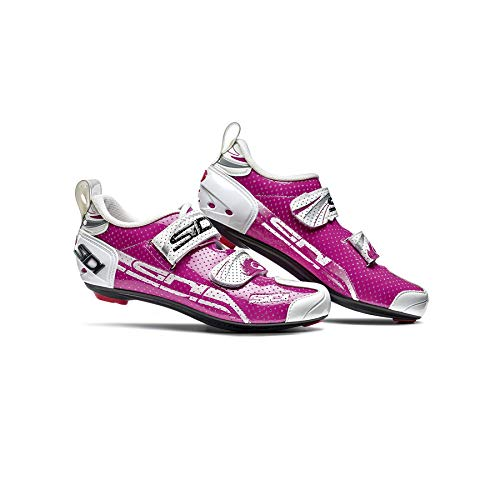 Sidi Women's T4 Air Carbon Triathlon Cycling Shoe Fuchsia White (39.5) ()