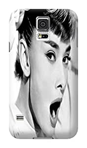 Snap-on fashionable Audrey Hepburn TPU Case compatible with samsung galaxy s5