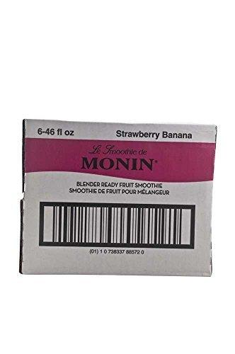 Monins Blender Ready Strawberry Banana Fruit Smoothie Mix, 46 Ounce -- 6 per case. by Monins