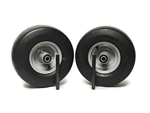 MowerPartsGroup (2) Ferris Pneumatic Wheel Assemblies 13x6.50-6 Silver Replaces 5023279 ()