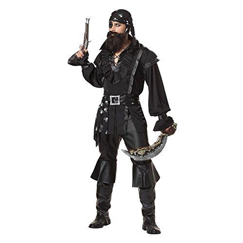California Costumes Men's Plundering Pirate Adult, Black, Medium -
