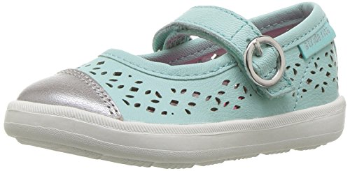 Stride Rite Poppy Mary Jane (Toddler/Little Kid), Turquoise, 4 M US Toddler - Kid Express Leather Mary Janes
