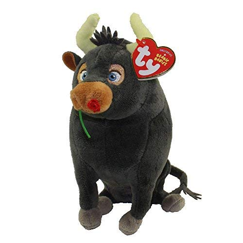 "TY 6"" Ferdinand The Bull Beanie Babies Plush Stuffed Animal With Ty Heart Tags (FREE GIFT with purchase)"