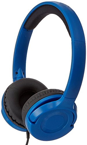 AmazonBasics Lightweight On Ear Headphones Blue