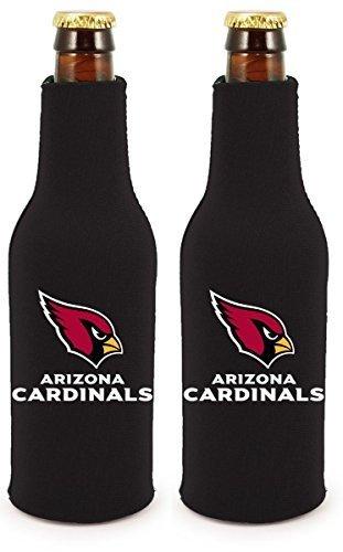 NFL Football 2014 Team Color Logo Bottle Suit Holder Cooler 2-Pack (Arizona Cardinals) ()