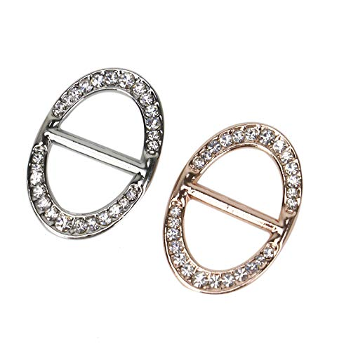 - WSSROGY 2 pcs Oval Scarf Ring Scarf Slides