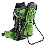 Luvdbaby Premium Baby Backpack Carrier for Hiking with Kids - Carry Your Child Ergonomically (Green/Grey)