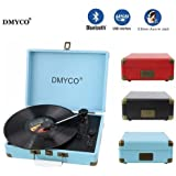 Turntable Best Bluetooth Portable Audio Mini Stereo 3-Speed Turntable Vinyl Record Player Support USB