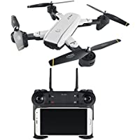Clearance ! RC Helicopter- Vanvler  Quadcopter Drone  2.4Ghz 4 CH 360° Hold WiFi 2.0MP Optical Flow Dual Camera Foldable Aircraft (white)