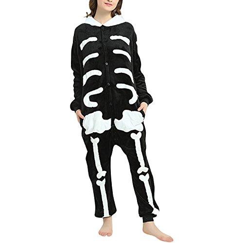 Lisli Adult Women Halloween Skeleton Costume Pajamas Onesies Cosplay Party Wear ()