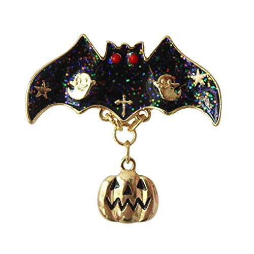 Potelin Hanging Brooch Glazing Bat Alloy Shining Paillette Decoration Pendant Charm Brooch for Women Men Kids Durable and -