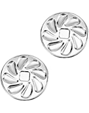 Yardwe Stainless Steel Oyster Plate 2PCS Oyster Grill Pan Serving Trays Platter Snail Escargot Dishes Oyster Shell Shaped for Oysters Lemons Sauce