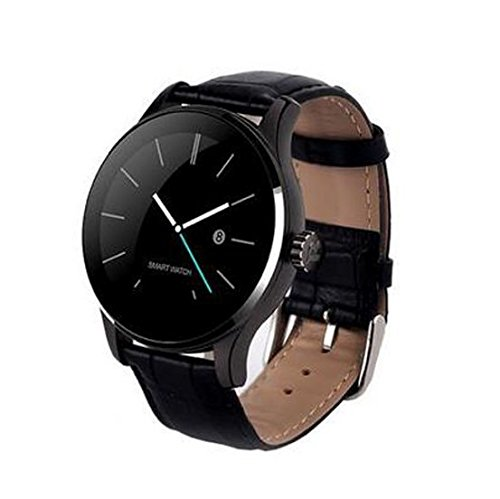Bluetooth Smart Watch, Esfera Redonda con Monitor de frecuencia ...
