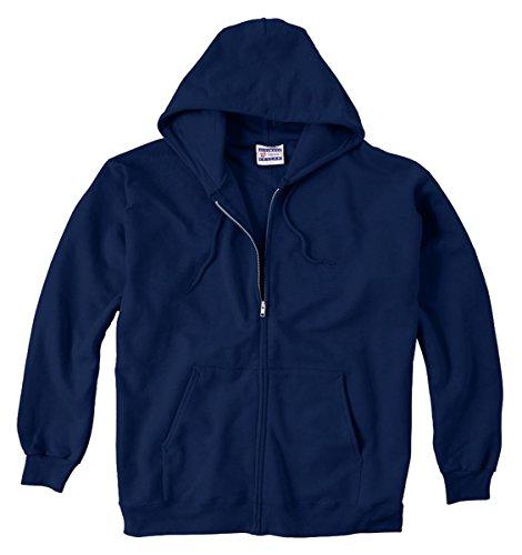 F280 Hoodie Sweatshirt - Hanes Men Ultimate Cotton Heavyweight Full Zip Hoodie_Navy_XX-Large
