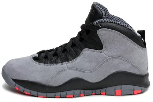 Nike Men's Air Jordan Retro 10, COOL GREY/INFRARED-BLACK, 12 M US