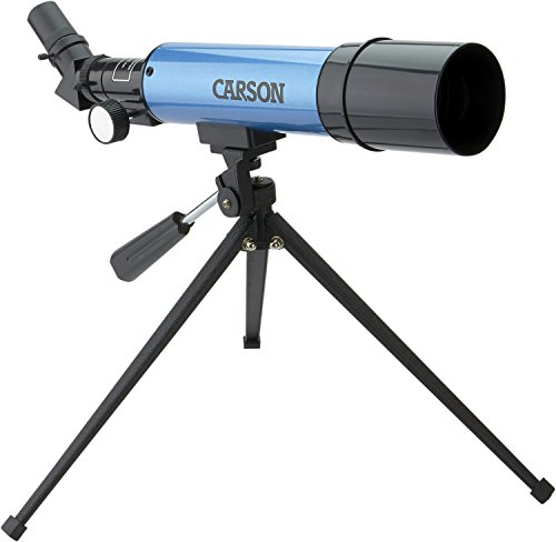 Carson Aim Refractor Type 18x-80x Power Telescope with Tabletop Tripod - Telescope Tripod Tabletop