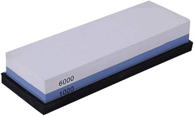 Pierre /à aiguiser 1000//6000 Grain Grindstone Grindstone Grindstone avec Base en silicone antid/érapante pour ciseaux /ép/ées rasoirs