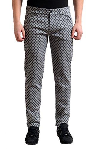 Dolce & Gabbana Multi-Color Polka Dot Slim Fit Men's Denim Jeans US 34 IT -