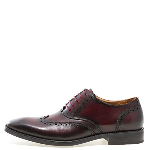 Jump Newyork Mens Liam Wing-tip Oxford Shoe Burgundy