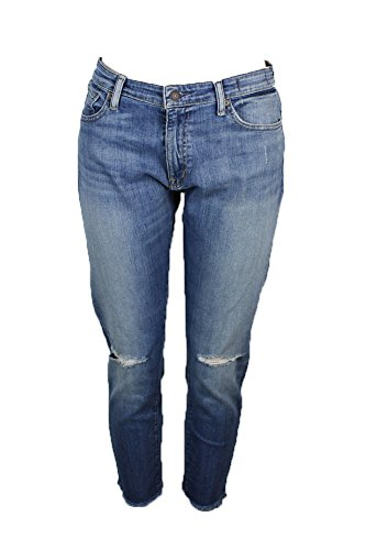 RALPH LAUREN Denim Supply Madison Crop Flared Jeans Blue Denim 28