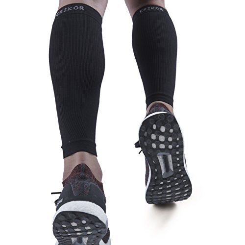 Crikor Calf Compression Sleeve (1-Pair) Improves Circulation and Recovery for Shin Splint, Calf Pain, Swelling, Leg Cramps - Man Women Runners Guards Sleeves for Running, Cycling, Maternity, Travel Blood Circulation Legs