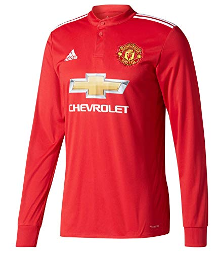 - adidas Men's Soccer Manchester United FC Home Jersey Long Sleeve (M) Red